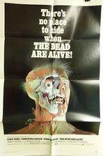 "VTG 1972 ""THE DEAD ARE ALIVE"" US RELEASE ORIG 1SH 27X41 MOVIE POSTER CRISPINO"