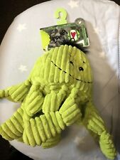 Hugglehounds Octo Squeaker Plush Durable Dog Toy Puppy Play Fetch Exercise Soft