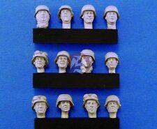 Legend 1/35 German Soldier Heads Set No.2 WWII (12 Heads) [Resin Figure] LF0112