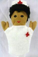 Nurse Hand Puppet Sheram White Hospital Red Cross Play Imagination Unisex New