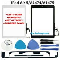 VETRO +TOUCH SCREEN APPLE IPAD AIR 5 TASTO FLAT HOME +COLLA +TOOLS A1474 A1475
