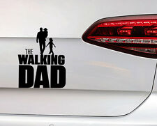 Baby on Board Aufkleber The Walking Dad  Sticker Vater mit Baby im Arm Fun Decal