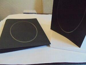 12 Black Aperture 3 fold cards and envelope - Oval Aperture