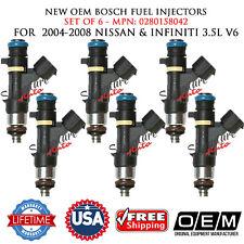 NEW Bosch OEM 6X Fuel Injectors for 04-08 Nissan&Infiniti 3.5L V6 #0280158042