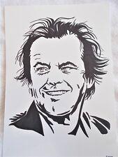 A4 Bolígrafo Marcador De Arte Dibujo actor Jack Nicholson Cartel