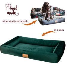 Dog Bed Sofa XXL Extra Large Big Washable Pet Mattress XL 🐾 110 x 90 cm GREEN