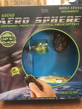 NIB MINI AERO SPHERE REMOTE CONTROL HELICOPTER 1 CHANNEL BEGINNER LIGHTS UP