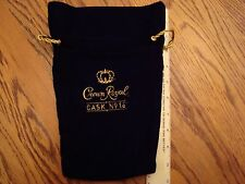 Crown Royal Cask No.16 Bag Black/Gold Felt quilt huntingfishing dice marble coin