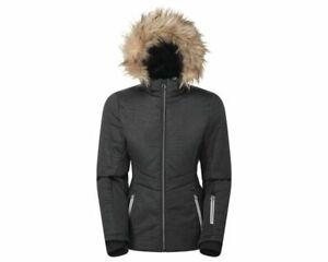 Dare 2B Women's Auroral Waterproof Insulated Fur Trim Hooded Ski Jacket - Black