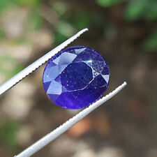 6.52CT BLUE SAPPHIRE NATURAL OVAL SHAPE HEATED GEMSTONE SAPPHIRE THAILAND