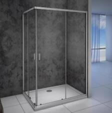 120x90cm Duschkabine Duschabtrennung Eckeinstieg Schiebetür Echtglas ESG Glas