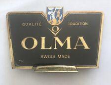 Olma Targhetta/Plate In Metallo Leggero Originale/original Dell'epoca Ricambi