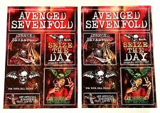 Avenged Sevenfold *City Of Evil* Set of 2 Promo Stickers Decals Nightmare *RARE