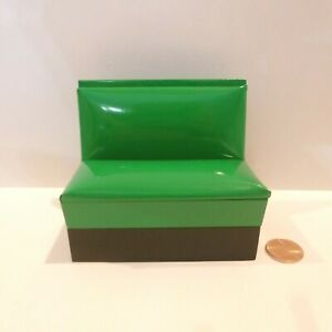 DOLLHOUSE MINIATURE 1950'S BOOTH BENCH  GREEN