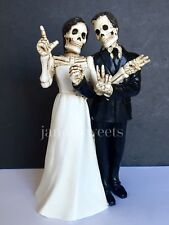 Wedding Cake Topper-Groom Bride Halloween Skeleton Decorations Love Never Dies