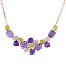 Catherine Malandrino Multi Gem Necklace in Sterling Silver