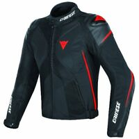 DAINESE SUPER RIDER D-DRY BLACK BLACK FLUO-RED MOTORCYCLE JACKET- FREE SHIPPING!
