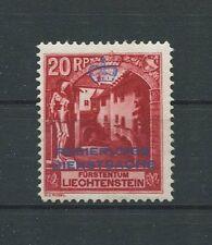 LIECHTENSTEIN DIENST 1932 Nr. 3 B Neugummi Michelwert ** 240.- d6726