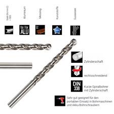 Metallbohrer, Spiralbohrer DIN338 HSS-G, geschliffen, 1,1-16,0mm, 0,1 steigend