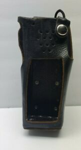 Boston Leather Radio Holder Case Elastic Strap Two Way Swivel Kenwood TK-3180 US