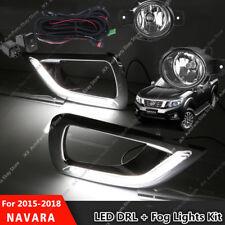 LED DRL Daytime Running Lamps & Fog Lights Kit For Nissan Navara NP300 2015-2018