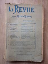 LA REVUE (Ancienne Revue des Revues) Nr 1 Janvier 1904 JEAN FINOT
