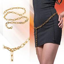 Kette Kettengürtel Goldfarben TOP zum Kleinen Schwarzen Gürtel Metallgürtel GOLD