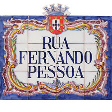 Portuguese Traditional Clay Azulejos Tiles Panel Mural WE PAINT YOUR STREET NAME