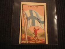 1963 TOPPS MIDGEE #28 FINLAND *MINI FLAG* CARD  VERY UNIQUE !