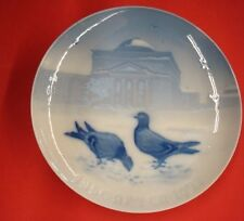 1921 Bing & Grondahl Christmas Plate  Pigeons in the Castle Court