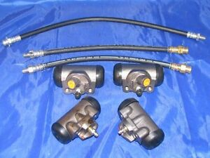 4 Wheel Cylinders & Hoses 1954 1955 1956 Ford Passenger