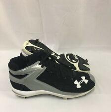 NEW Mens Under Armour Yard II 5/8 Pro ST Baseball Cleats Black / Grey Sz 15 M