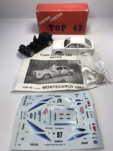 Rare Solido 1:43 Die-Cast Unbuilt Kit Ford Escort XR3 Monte Carlo Rally Boxed