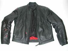 DAINESE Men's Black leather Armor Motorcycle cafe Racer biker Jacket Size:42US