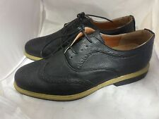 SHOES CLICK Managers Brogues Black w Cut Out Patterning UK10 EU44 LG02 75 SALE