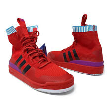 low priced 3fe1f 479f1 Adidas Forum Winter Prime Knit Mens Size 8 Red High Top Basketball Shoe  BZ0645