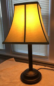 Refurbished Portable Table Lamp, Brown With Shade. Clean In Excellent Condi