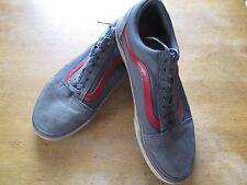 VANS OLD SKOOL PEWTER Gray/Red Low Canvas US Mens 10 CLASSIC SKATE SK8 SCHOOL