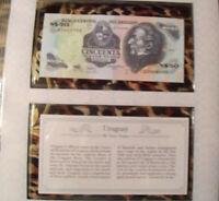 *Most Treasured Banknotes Uruguay 1989 50 New Pesos P61A UNC Serie G