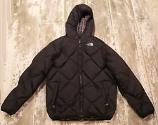 THE NORTH FACE Reversible Down 550 MOONDOGGY Black Brown plaid Jacket Coat XL 18