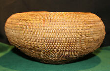 "Antique Native American Indian Mission Basket 9 1/2"" Diameter"