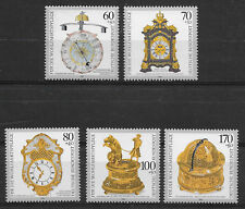 GERMANY, 1992 , ANTIQUE CLOCKS , SET OF 5 , PERF , MNH