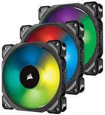 Corsair ML120 Pro RGB LED 12cm PWM PC Case Fan - Magnetic Bearing, 3 Pack