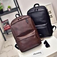 Vintage Men Women Leather Backpack Laptop Satchel Travel School Bag Rucksack Por