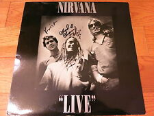 "NIRVANA SIGNED ""LIVE"" LP COA + PROOF! KRIST NOVOSELIC CHAD CHANNING AUTOGRAPHED"