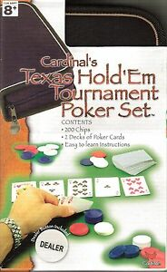 Cardinals Texas Hold Em Tournament Poker Chips Card Game Travel Portfolio Set