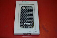 Cuptakes iPhone 4 4S Hard Case Black Motif Cover Multi-Color Fitted Very Good 9E