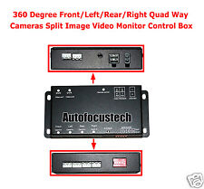 360° Parking View Front/Rear/Right/Left Cameras Image Quad Ways Video Monitoring