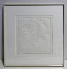 """SANDRA K YOKUM VINTAGE 1991 LE 3/30 """"Embossed Lilies Series VII"""""""