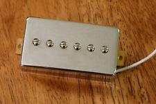 HUMBUCKER SIZED P90 NECK PICKUP ALNICO 5 MAGNETS IN CHROME